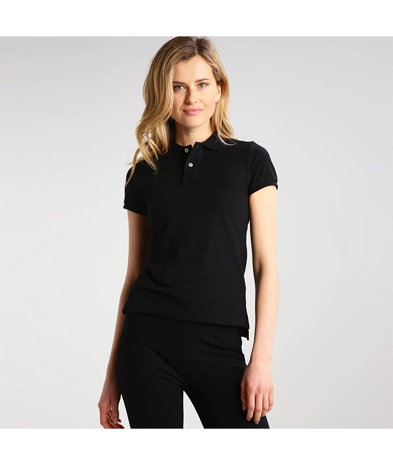 Women's Slim Fit Solid Polo Shirt - 1