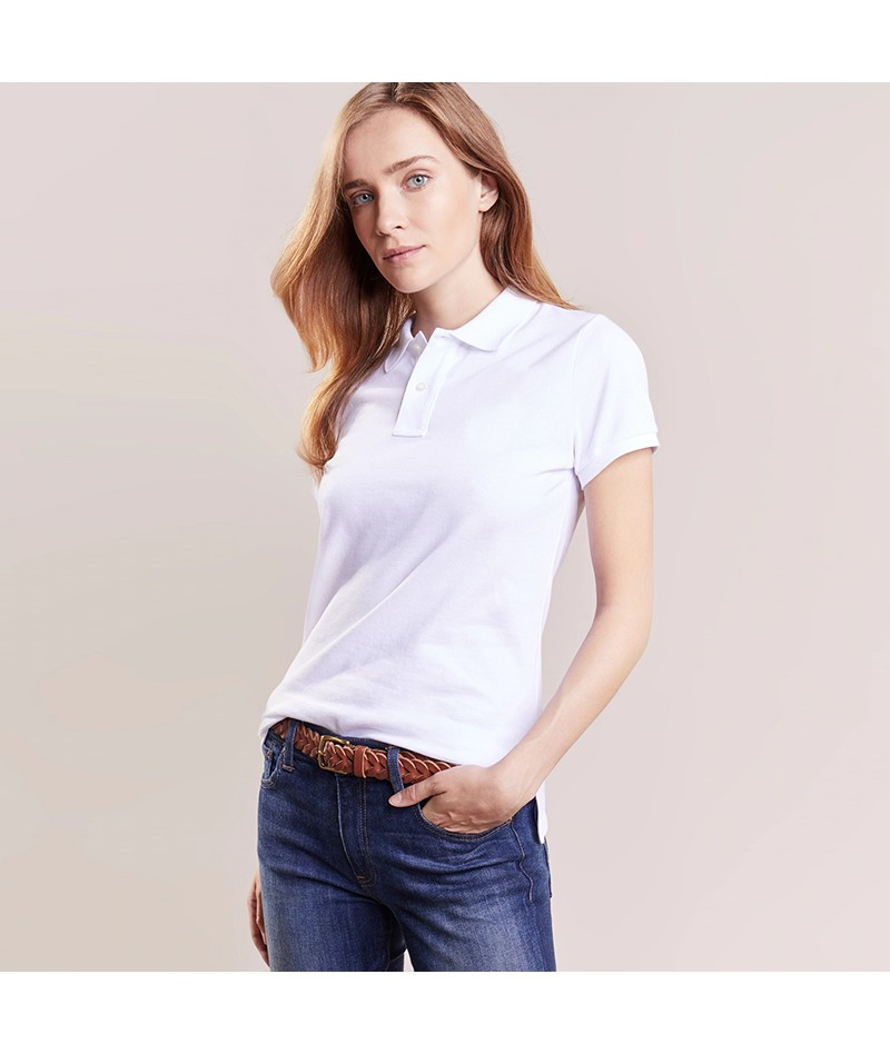Women's Slim Fit Solid Polo Shirt - 3