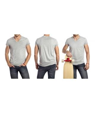Camiseta de punto hombre cuello cross - 1