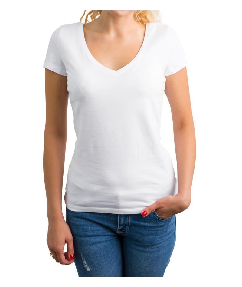 Camiseta de punto cuello cross - 1
