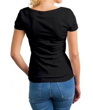 Camiseta de punto cuello cross - 5
