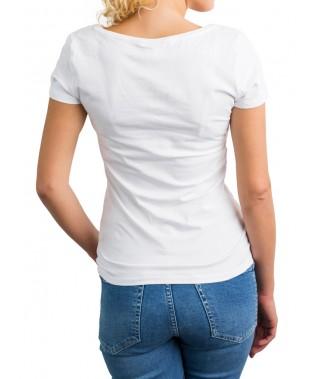 Camiseta de punto cuello cross - 7
